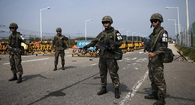 Binh sĩ Hàn Quốc duy trì tình trạng sẵn sàng ở mức cao nhất