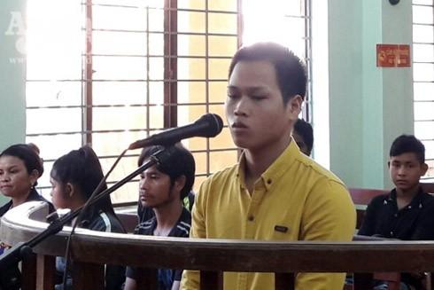 Đối tượng Phạm Văn Kiên tại phiên tòa xét xử