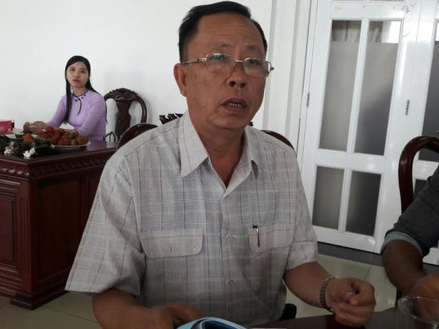 Ông Trần Công Chánh, Bí thư Tỉnh ủy Hậu Giang tiếp xúc với báo giới sáng 13-9 (Ảnh: Dân trí)