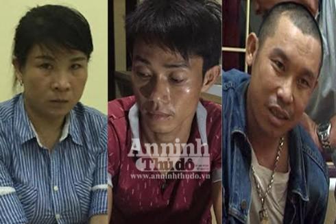 3 đối tượng Lam, Thắng và Quảng tại cơ quan Công an