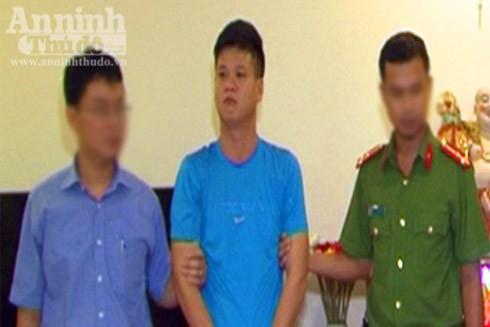 Đối tượng Quang bị bắt giữ (Ảnh: Công an TT Huế cung cấp)