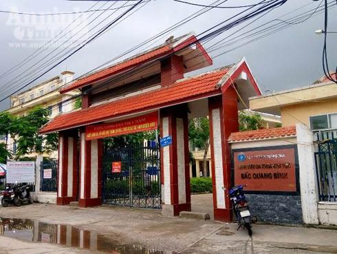 Bệnh viện đa khoa Bắc Quảng Bình – nơi xảy ra sự việc