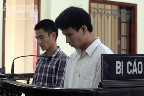 Cao Văn Phong và Đậu Hải Quân trong phiên xét xử