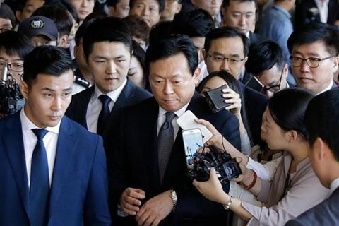 Ông Shin Dong-bin, Chủ tịch Tập đoàn Lotte