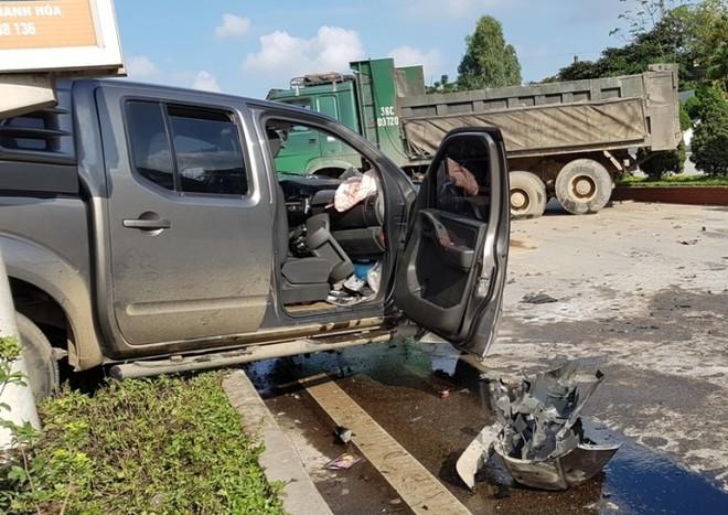 Hiện trường vụ tai nạn nghiêm trọng tại tỉnh Thanh Hóa (Ảnh: ATGT)