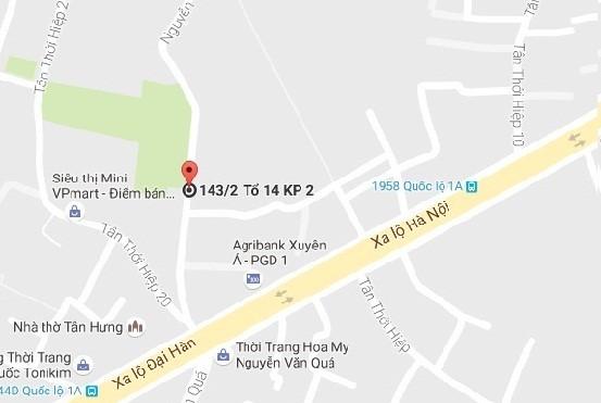 Nơi xảy ra vụ cướp (Ảnh: Google Maps)