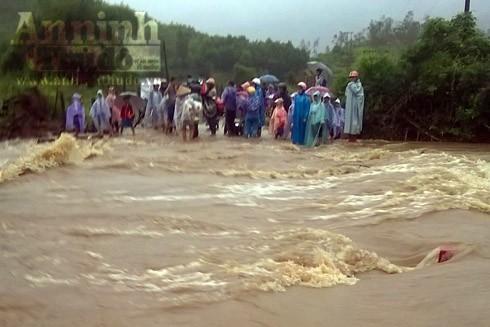 Khu vực nước tràn cuốn trôi công nhân Nguyễn Văn Trọng