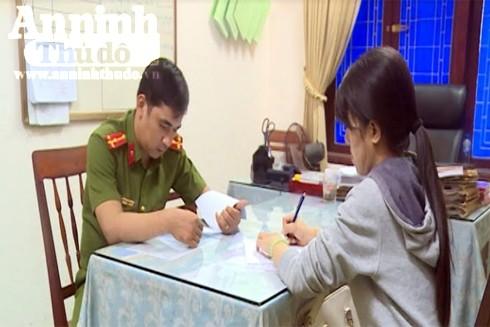 Nạn nhân đến trình báo tại Công an tỉnh Quảng Ngãi