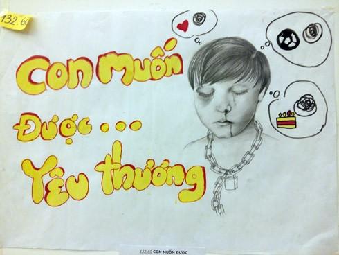"""Tác phẩm """"Con muốn được yêu thương"""" của tác giả Tống Thị Huyền Trang - Làng trẻ em SOS Hà Nội"""