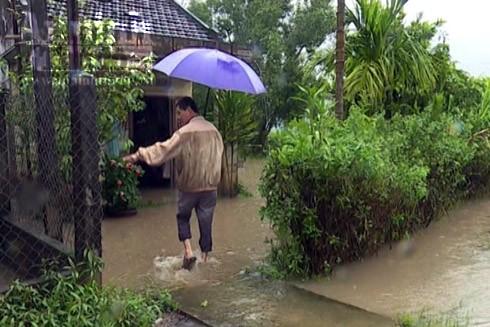 Việc thi công tuyến đường cao tốc Đà Nẵng – Quảng Ngãi làm cản trở dòng chảy, thoát nước gây ngập úng nhà cửa