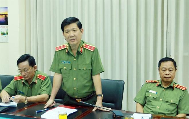 Thứ trưởng Nguyễn Văn Sơn phát biểu tại buổi làm việc