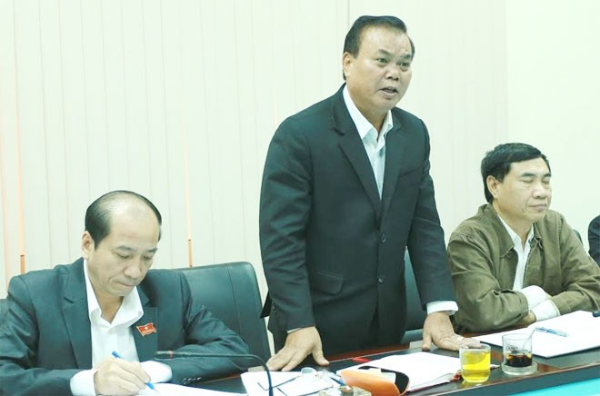 Đồng chí Êban Y Phu, Bí thư Tỉnh ủy Đắk Lắk phát biểu tại buổi làm việc