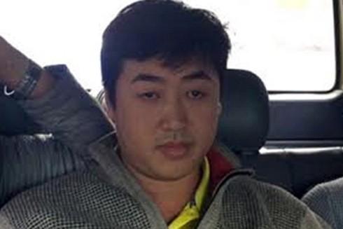 Nghi can Nguyễn Hoàng Tâm khi bị lực lượng Công an bắt giữ