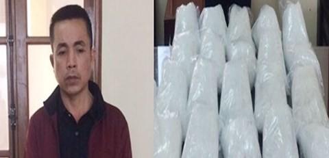 """Đào Văn Khánh cùng số ma túy """"đá"""" bị thu giữ"""