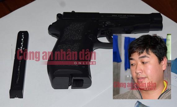 Khẩu súng đối tượng Tâm sử dụng gây ra vụ cướp được Công an tỉnh Thừa Thiên- Huế thu giữ