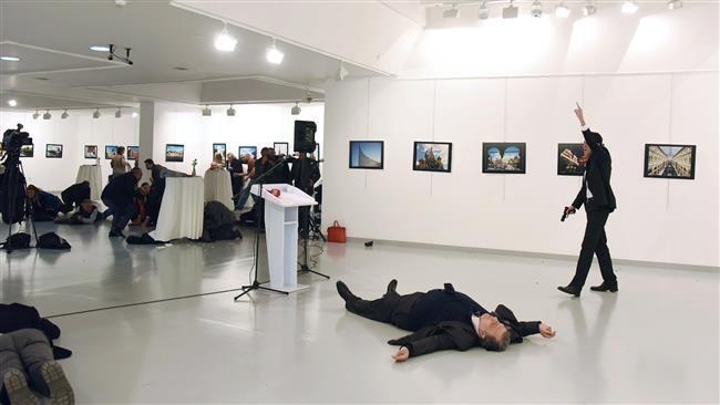 Hiện trường vụ ám sát Đại sứ Nga