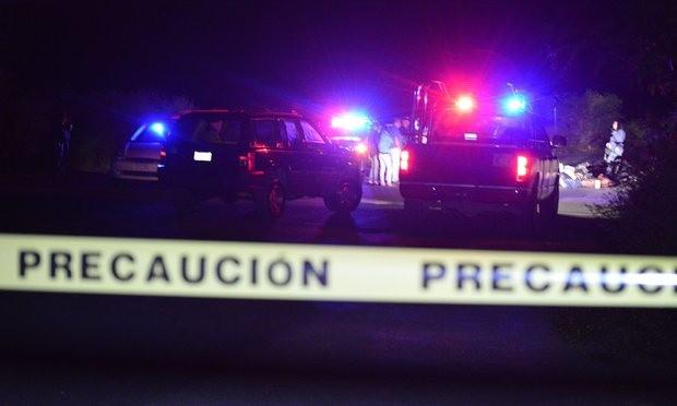 Hiện trường nơi 6 đầu người được tìm thấy ở Jiquilpan (Ảnh: EPA)