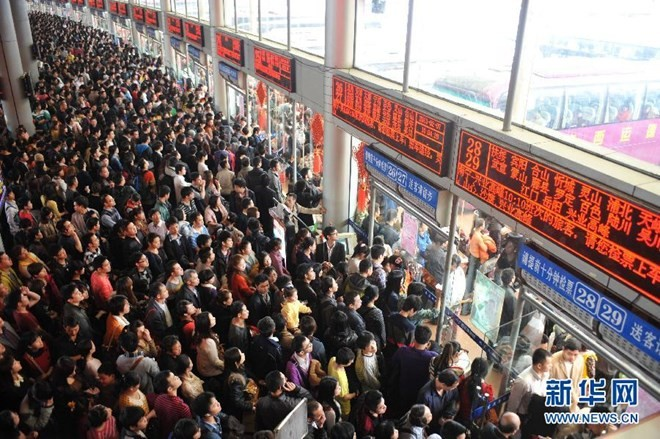 """Hình ảnh """"khủng khiếp"""" từ cuộc di cư về quê ăn Tết của người Trung Quốc ảnh 3"""