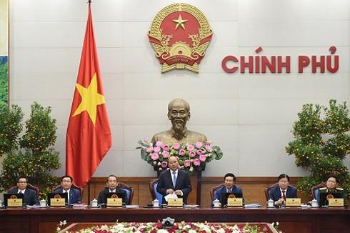 Thủ tướng chủ trì phiên họp Chính phủ thường kỳ tháng 1-2017. Ảnh: VGP/Quang Hiếu