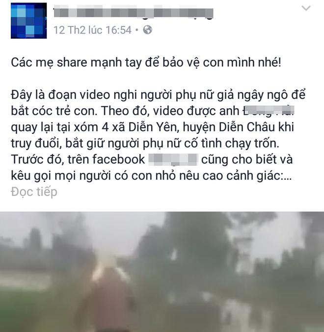 Thông tin về vụ bắt cóc được chia sẻ trên mạng xã hội khiến nhiều người hoang mang