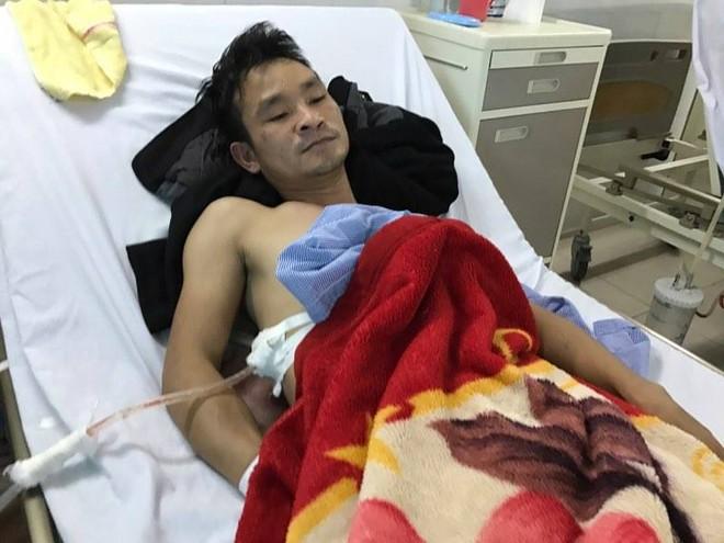 Anh Nguyễn Hải Sơn được điều trị tại bệnh viện
