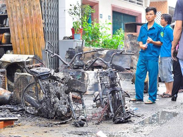 Nhiều tài sản bị cháy rụi. Ảnh: Ngọc An