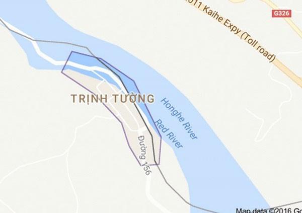 Xã Trịnh Tường, huyện Bát Xát, Lào Cai - nơi xảy ra vụ sát hại. (Nguồn: Google maps)