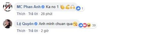 Không chỉ người hâm mộ mà MC Phan Anh, Lệ Quyên cũng bày tỏ sự ngưỡng mộ với đàn anh