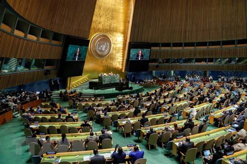 Toàn cảnh khóa họp của Đại hội đồng Liên hợp quốc tại New York, Mỹ. (Nguồn: AFP/TTXVN)
