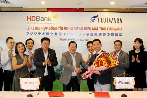Lễ ký kết hợp đồng tín dụng dự án điện mặt trời Fujiwara