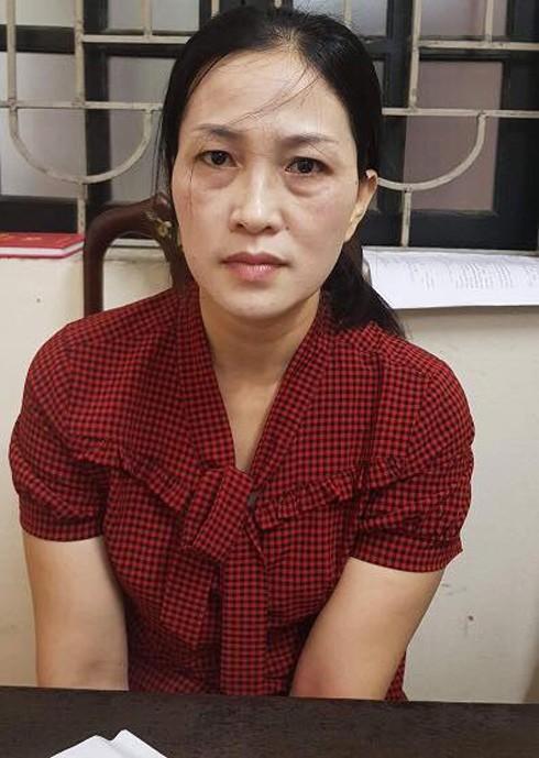 Đối tượng Lê Thị Thanh Hà tại cơ quan điều tra