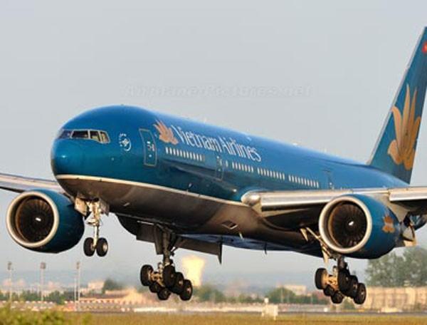Máy bay của VietNam Airlines hạ cánh (Ảnh minh họa)