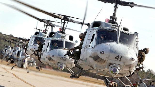 Mỹ và đồng minh vẫn sử dụng những phiên bản UH-1 sản xuất sau cùng cho lực lượng hải quân đánh bộ
