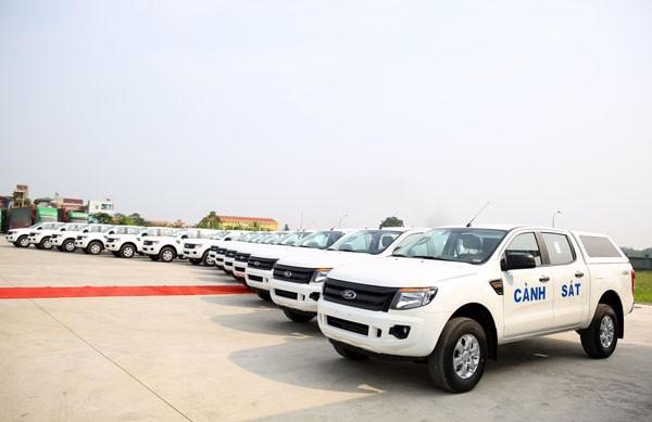 Ford Việt Nam bàn giao 75 xe Ford Ranger XL tới Bộ Công an ảnh 1