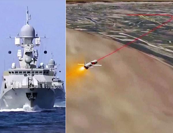 Biên đội tàu Nga tập trung trên biển Caspian phóng tên lửa hành trình Kalibr-NK