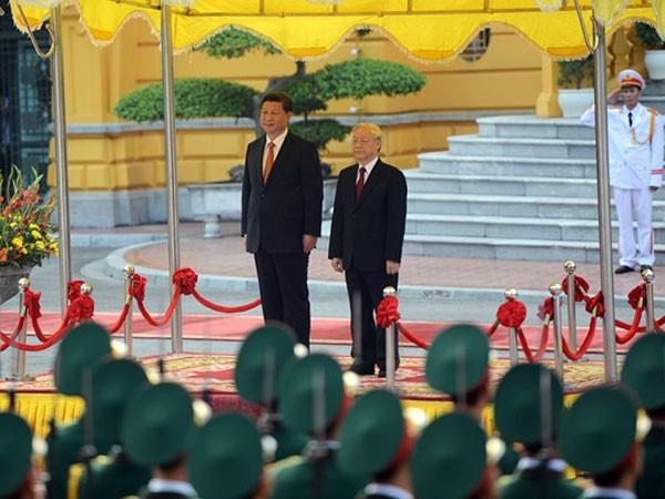 Lễ đón trọng thể Tổng Bí thư, Chủ tịch Trung Quốc Tập Cận Bình ảnh 1