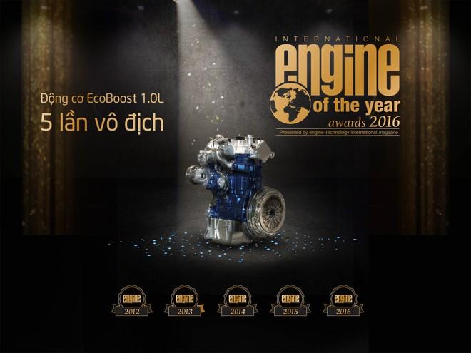 """EcoBoost 1.0L của Ford nhận giải thưởng """"Động cơ nhỏ tốt nhất"""" năm thứ 5 liên tiếp"""