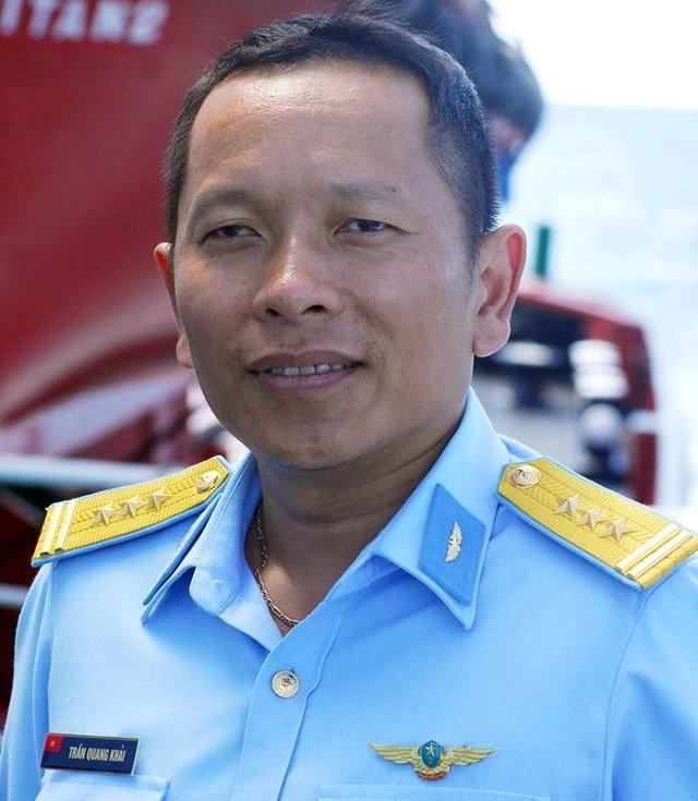 Phi công Trần Quang Khải chụp tại Trường Sa năm 2013 - Ảnh: Nguyễn Trọng Thiết