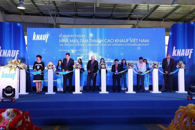 Khánh thành Nhà máy tấm thạch cao Knauf Việt Nam