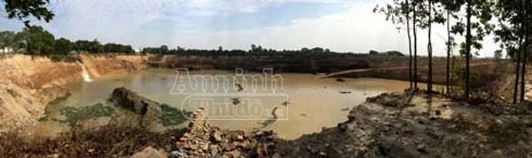 Vụ dấu hiệu khai thác đất trái phép tại Sóc Sơn: Hiện trường bị thay đổi ảnh 1