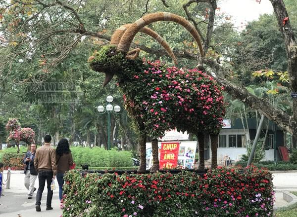 """12 con giáp """"khủng"""" trong công viên Thống Nhất ra hoa rực rỡ ảnh 7"""