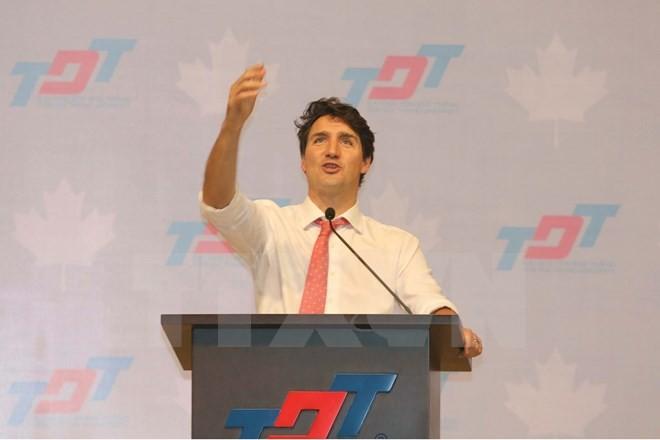 Thủ tướng Trudeau bình dị, cởi mở khi gặp gỡ sinh viên TP.HCM ảnh 5