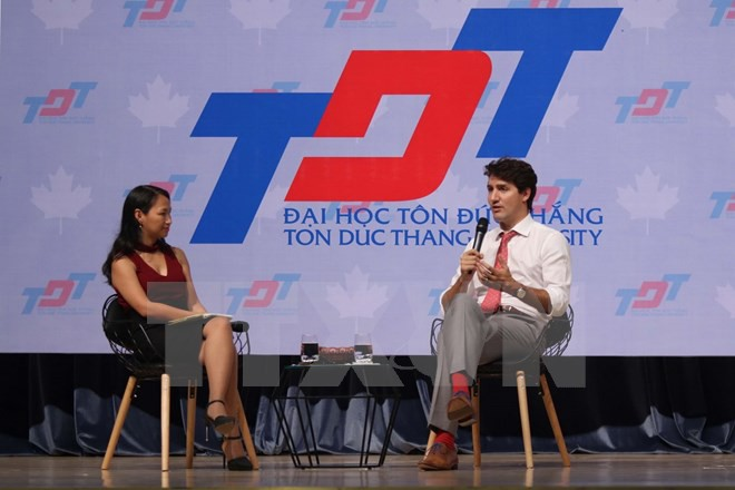 Thủ tướng Trudeau bình dị, cởi mở khi gặp gỡ sinh viên TP.HCM ảnh 6