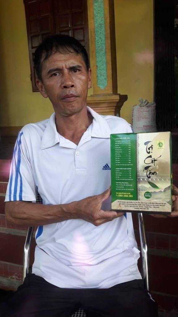 Anh Trương Anh Tuấn (45 tuổi, trú tại Minh Hợp- Quỳ Hợp- Nghệ An) đẩy lùi bệnh thoát vị đĩa đệm 10 năm sau 30 ngày sử dụng thuốc.