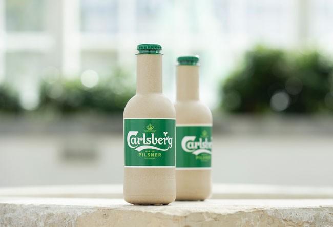 Chai bia giấy Green Fibre được làm từ 100% xơ sợi gỗ tự nhiên, có thể tái chế hoàn toàn