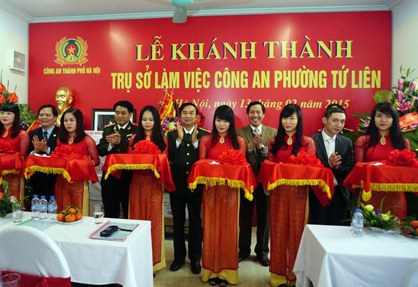 Thượng tướng Đặng Văn Hiếu, Thứ trưởng Thường trực Bộ Công an dự lễ và cắt băng khánh thành trụ sở CAP Tứ Liên