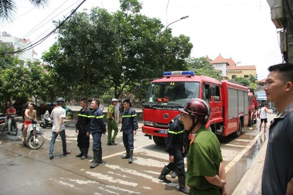 Lực lượng Cảnh sát PC&CC tai hiện trường