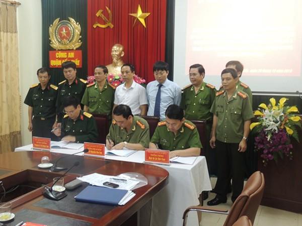 Lễ ký kết duy trì phối hợp thực hiện nhiệm vụ giữa các đơn vị trong lực lượng Công an và quân đội