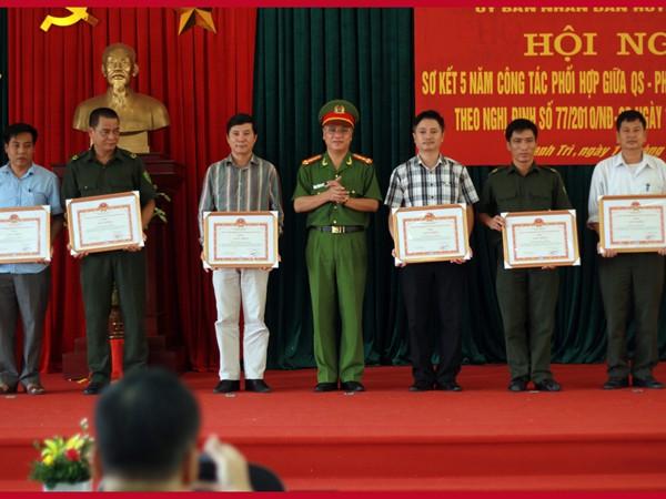 Các đơn vị được nhận phần thưởng hoàn thành xuất sắc nhiệm vụ