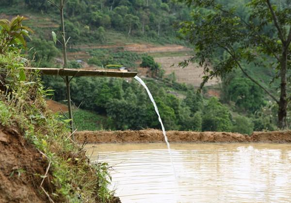 Dẫn nước vào ruộng bậc thang